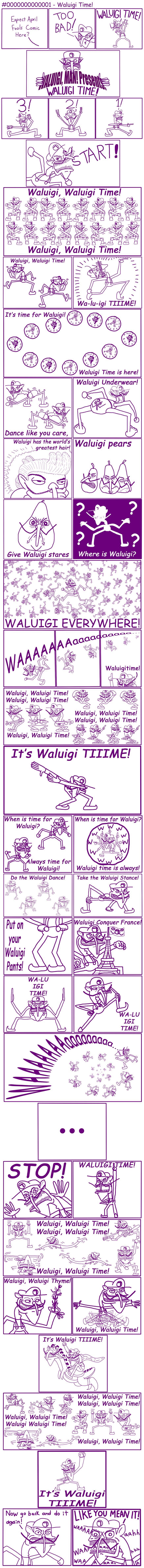 Waluigi, Man! #0000000000001 - Waluigi Time!